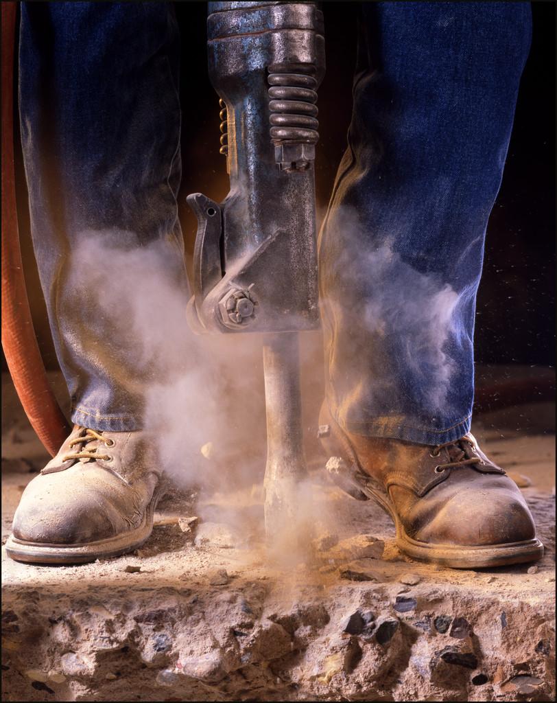 Man Operating Jackhammer
